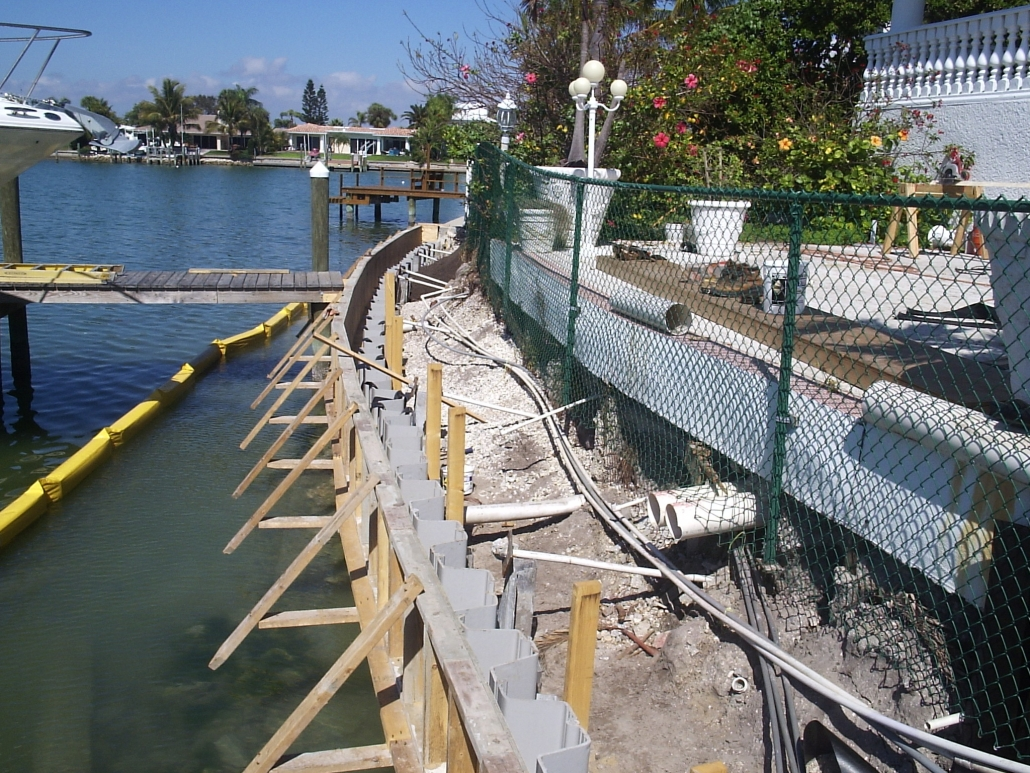 Seawalls Amp Concrete Work Evans Custom Docks